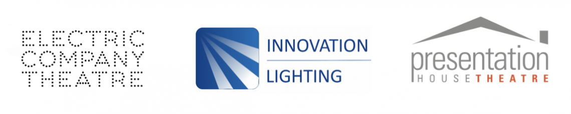 Logos of Electric Company Theatre, Innovation Lighting and Presentation House Theatre